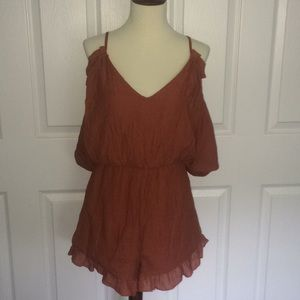 Wishlist romper rust colored fully lined